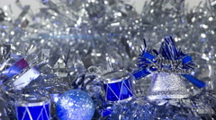 Christmas decorations close-up seamless loop 4k (4096x2304) Stock Footage