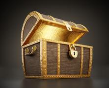 Treasure chest full of treasures Stock Illustration