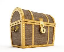 Treasure chest Stock Illustration