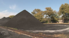 Warehouse coal in motion Stock Footage