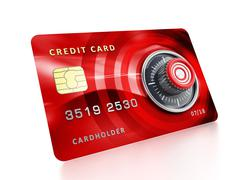 Stock Illustration of Credit card with lock