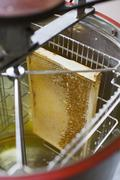 Stock Photo of High angle view of honeycomb in machinery at industry