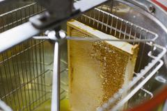 High angle view of honeycomb in machinery Stock Photos