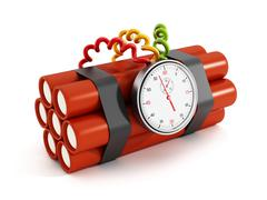 Dynamites with electronic timer Stock Illustration