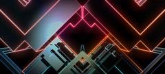 Retro Cubes 04 Stock Footage