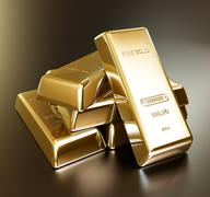 Gold bars arrangement Stock Illustration