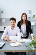 Confident business team inside the workplace Stock Photos