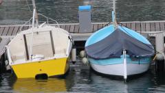 Small Boats in Menton Stock Footage