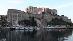 The Citadel at Calvi, Corsica - stock footage