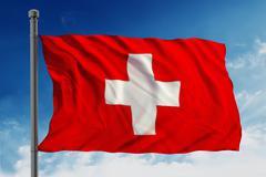 Flag of swiss - stock illustration