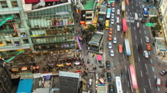 Seoul City myeong-dong shopping area Stock Footage