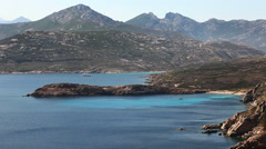 The beautiful seacoast of Corsica near the town of Calvi Stock Footage