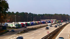 Germany cars on the highway Stock Footage