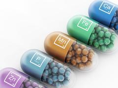 Mineral pills - stock illustration