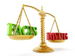Facts and Myths - stock illustration