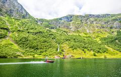 Stock Photo of Fjords in Norway and Scandinavian nature. Neroyfjord.