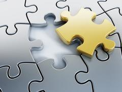 Stock Illustration of Missing puzzle piece