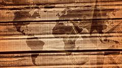 Monochrome world map Stock Illustration