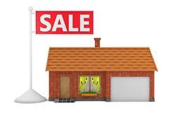 Sale house Stock Illustration