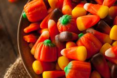 Festive Sugary Halloween Candy - stock photo