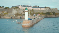 Lighthouse of belle ile - stock footage