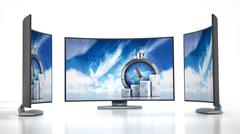 Curved new generation TV Stock Illustration