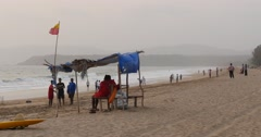 Overcast Day on Tropical Beach, Goa, India - stock footage