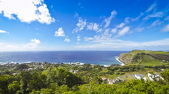 Picturesque view of South coast of Sao Miguel island, Azores, Portugal - stock footage