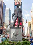 The George M Cohan Statue at Times Square in New York City Stock Photos