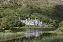 Benedictine abbey Kylemore Abbey County Galway Ireland Europe - stock photo