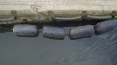Buoys in the port of Quiberon Stock Footage