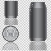 Aluminum packaging for beverages. Vector illustration. - stock illustration