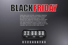 Stock Illustration of Background Black Friday and countdown timer
