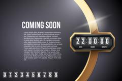 Stock Illustration of Luxury Background Coming Soon and countdown timer. Vector