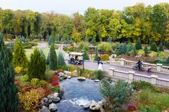 Landscape design in Mezhyhirya - stock photo