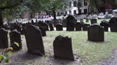 Boston granary buring ground cemetery tremont st Stock Footage
