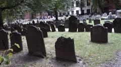 Boston granary buring ground cemetery tremont st Stock Footage