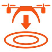 Copter Arrival Icon - stock illustration