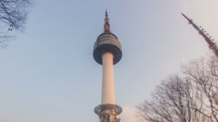 Seoul City Seoul Tower Area Stock Footage