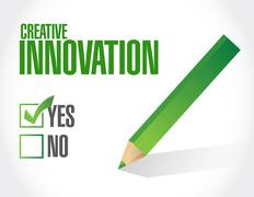 Creative Innovation approval sign concept - stock illustration
