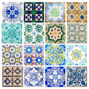 Antique tiles of Portugal Stock Photos