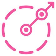 Round Area Exit Icon - stock illustration