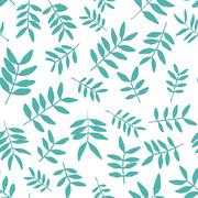 Background with branch silhouettes. Seamless pattern. - stock illustration