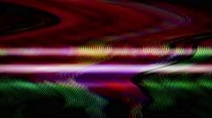Digital TV broadcast glitch Stock Footage