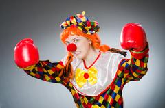Funny clown in comical concept Kuvituskuvat