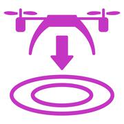 Copter Arrival Icon Stock Illustration