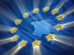 European Union flag - stock illustration