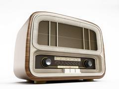 Antique radio - stock illustration