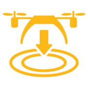 Copter Landing Icon - stock illustration