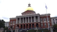 Boston massachusetts state house Stock Footage